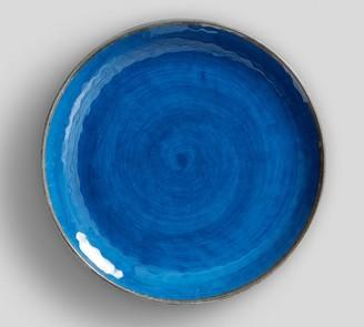 Pottery Barn Swirl Melamine Dinner Plate - Turquoise