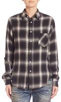 R 13 Long Sleeve Plaid Shirt