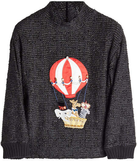 Dolce & Gabbana Embellished Pullover with Cashmere and Cotton
