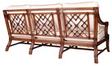 The Well Appointed House Mosaic Sofa with Rattan Frame- Variety of Finishes Available