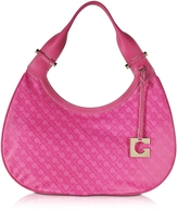 Gherardini Lupita Fuchsia Fabric and Leather Shoulder Bag