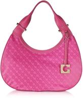 Gherardini Lupita Fuchsia Fabric and Leather Shoulder Bag