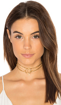 Luv Aj Trinity Chain Choker Set in Metallic Gold.