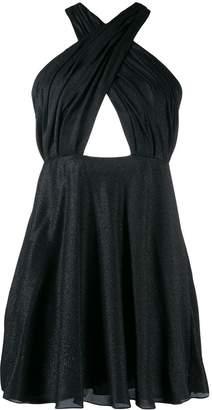 Saint Laurent draped crisscross short dress