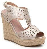 GC Shoes Celina Metallic Wedge Sandal