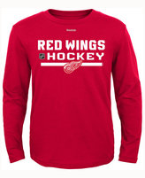 Reebok Kids' Detroit Red Wings Authentic Freeze Long-Sleeve T-Shirt