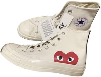 Comme des Garcons Converse X Play Converse X Play White Cloth Trainers