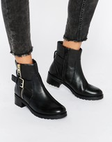 Faith Betsy Leather Biker Boots