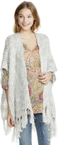 Motherhood Jessica Simpson Cable Knit Open Fringe Maternity Poncho