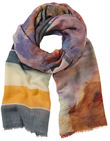John Lewis Hand Painted Floral Scarf, Multi