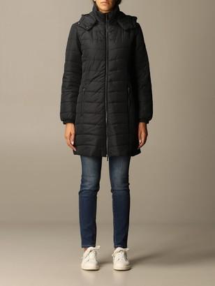 Armani Exchange Long Hooded Down Jacket