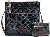 Dooney & Bourke Claremont Woven Triple Zip And Small Coin Case