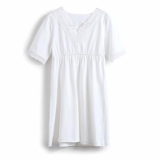 Allmeingeld Kids Girls' Lace Nighties Princess Nightgowns Personalized Loungewear Pink 6t