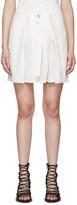 Ann Demeulemeester White Pleated Joan Miniskirt