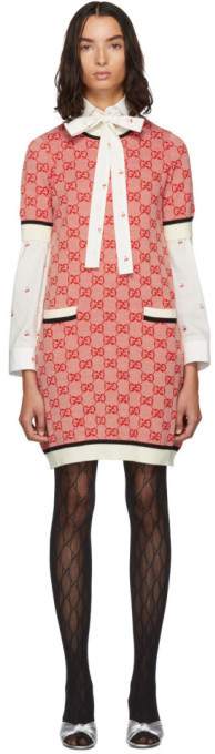 Gucci Red Knit GG Dress