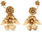 Elizabeth Cole Birch Gold-Tone Earrings