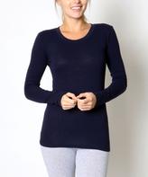 Navy Scoop Neck Sweater