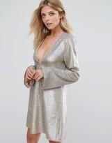 The Jetset Diaries Gold Diamond Dress