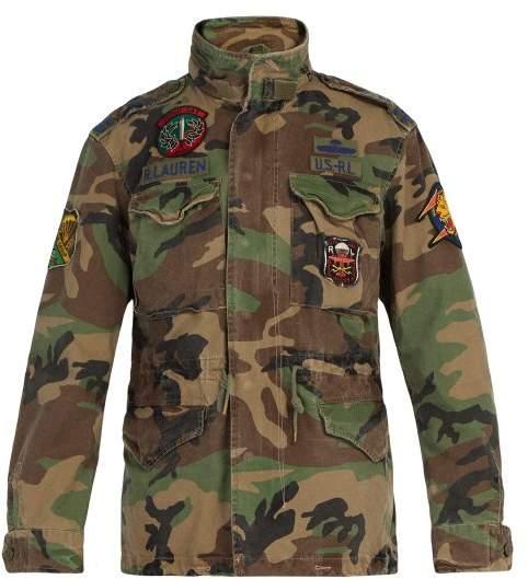 Polo Ralph Lauren Camouflage Print Cotton Jacket - Mens - Green Multi