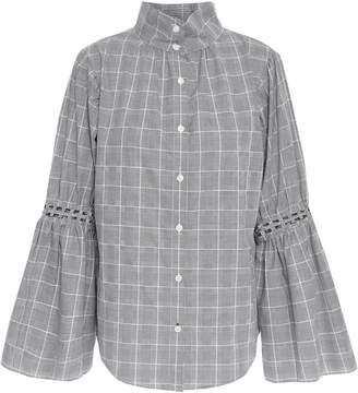 Jonathan Simkhai Studded Prince Of Wales Checked Shirt