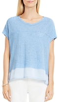 Vince Camuto Mixed Media Tee