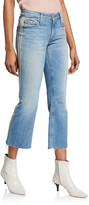 Black Orchid Chrissy Kick Flare Racer Stripe Jeans
