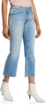 Black Orchid Chrissy Kick Flare Racer Stripe Jeans