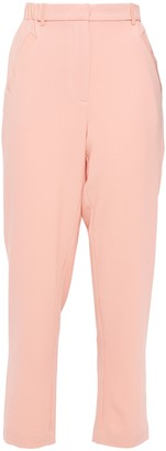 Hofmann Copenhagen Cropped Silk Crepe De Chine Tapered Pants