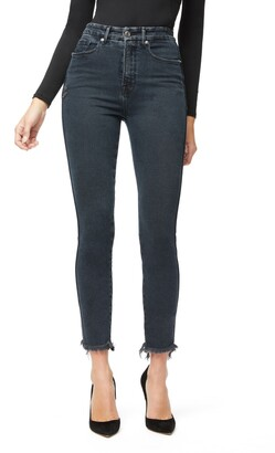 Good American Good Curve Skinny Raw Edge Jeans
