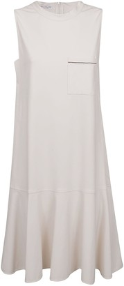 Brunello Cucinelli Back Zip Sleeveless Dress