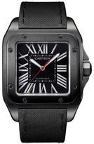 Cartier Santos 100 WSSA0006 Men's Black Stainless Steel Automatic Watch