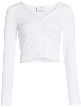 Heroine Sport Shield Ruched Cropped Top