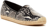 Brian Atwood Exact Snake-Embossed Espadrille Flat