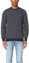 Lacoste Kinetic Intarsia Crew Neck Sweater