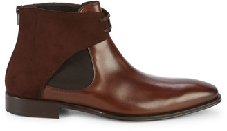 Mezlan 18686 Tie Front Leather Chelsea Boots