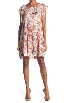 Vanity Room Short Ruffle Sleeve Tiered Dress