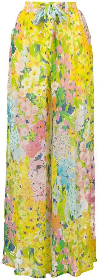 Moschino floral palazzo pants