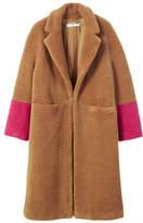 MANGO Contrast faux fur coat
