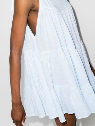 HONORINE Peri tiered mini dress