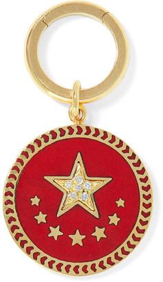 Foundrae Strength 18-karat Gold, Diamond And Enamel Pendant - one size