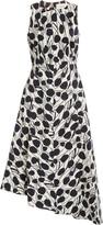 La DoubleJ Pina Asymmetric Cotton-Blend Midi Dress