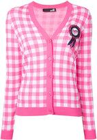 Love Moschino embellished gingham cardigan - women - Polyester/Viscose - 44