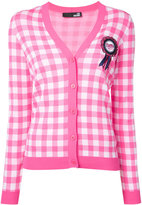 Love Moschino embellished gingham cardigan