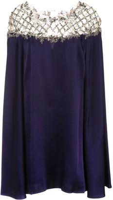 Marchesa cape sleeve mini dress