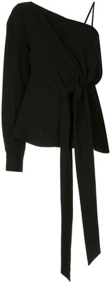 System Flared One-Sleeve Blouse