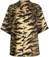 DSQUARED2 tiger print boyfriend shirt