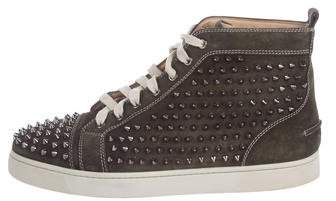 Christian Louboutin Louis Flat Spiked High-Top Sneakers