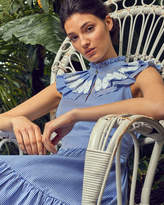 Ted Baker Frill bib lace applique cotton dress