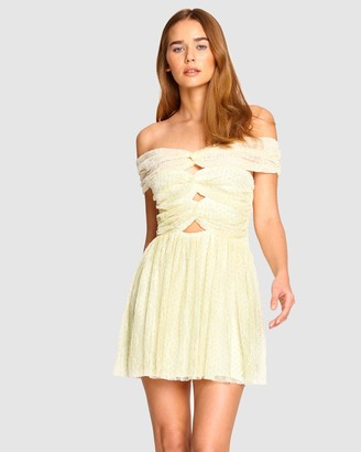 Alice McCall Women's Yellow Mini Dresses - ILY Mini Bow Dress - Size 6 at The Iconic
