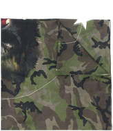 Givenchy Monkey Brothers camo printed scarf